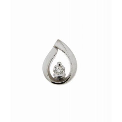 Pendentif Or Blanc 750 Diamant  0.08 carat