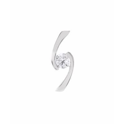 Pendentif Or Blanc 750 Diamant