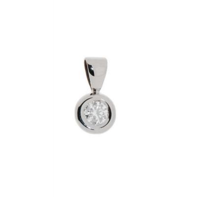 Pendentif Or Blanc Diamant  0.22 carat H Si