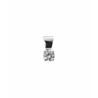 Pendentif Or Blanc Diamant  0.22 carat