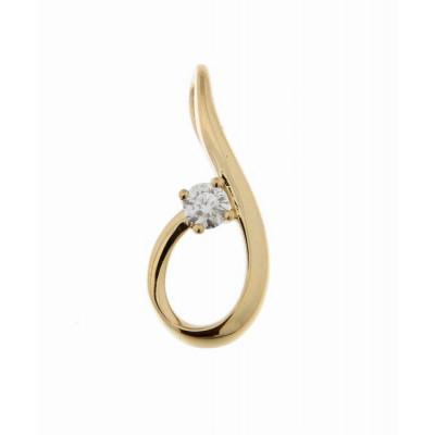 Pendentif Or Jaune 750 Diamant  0.106 carat