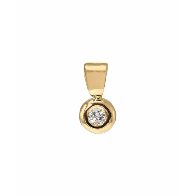 Pendentif Or Jaune Diamant  0.08 carat H Si