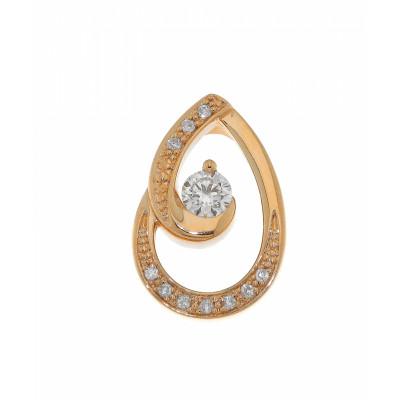 Pendentif Or Jaune Diamant 0.207 carat