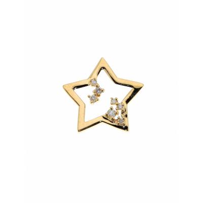 Pendentif Or  Jaune Etoile Diamant 0.077 carat