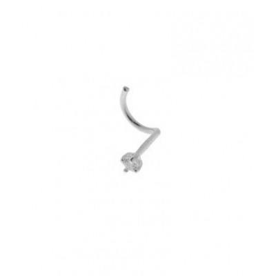 Piercing Or Blanc Diamant  1.5mm
