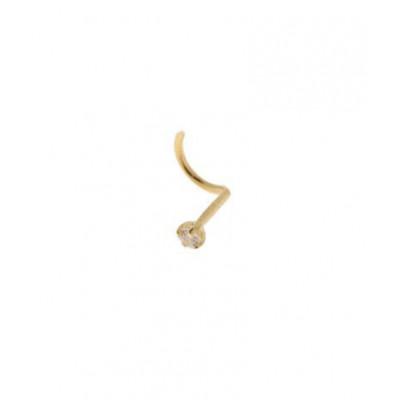 Piercing Or Jaune  Diamant 1.5mm