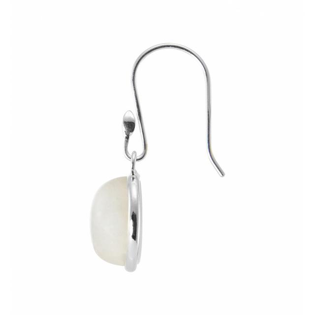 Rond Labradorite avec cercle Accents 925 Sterling Silver Dangle Boucles d/'oreilles n131a