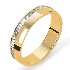 Alliance 2 Ors diamantée - 5mm
