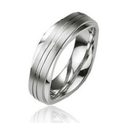 Alliance Argent Platiné 6mm