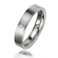Alliance Diamant Argent Platiné 4.5mm