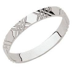 Alliance diamantée Or Blanc