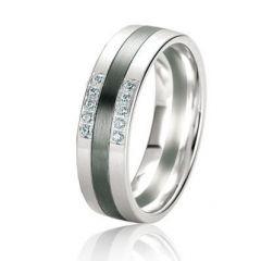 Alliance Or Diamant Black & White 6mm