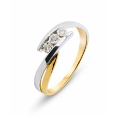 Bague 2 Ors 375 (9 carats) Diamant (0.052ct)