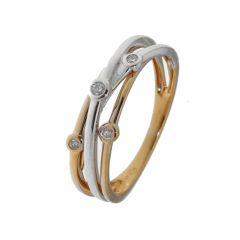 Bague 2 Ors 375 Diamant (0.08ct)