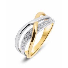 Bague 2 Ors Diamant (0.03ct)