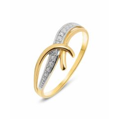 Bague 2 Ors Diamant (0.05ct)
