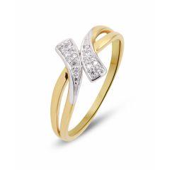 Bague 2 Ors Diamant (0.09ct)