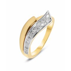 Bague 2 Ors Diamant (0.15ct)