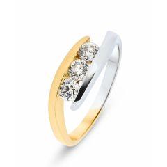 Bague 2 Ors Trilogie Diamant 0.45 ct