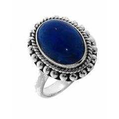 Bague Argent Lapis Lazuli Ovale 14x10mm