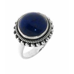 Bague Argent  Lapis Lazuli Rond 12mm