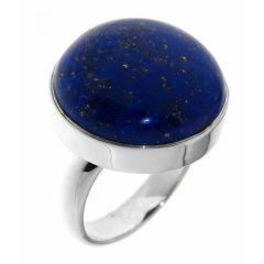 Bague Argent Lapis Lazuli Rond 20mm