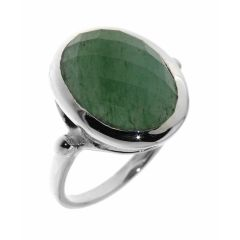 Bague Aventurine Ovale taille Dome 14x12mm