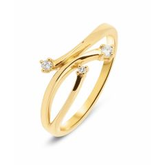 Bague Diamant Or Jaune (0.06ct)