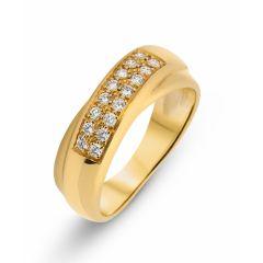 Bague Jonc Or Jaune Diamant