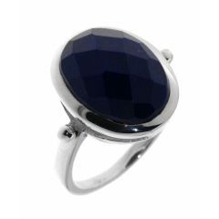 Bague Lapis Lazuli Ovale taille Dome 14x12mm