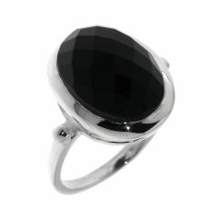 Bague Onyx Ovale taille Dome 14x12mm