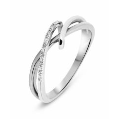 Bague Or Blanc 750  Diamant  0.01 carat