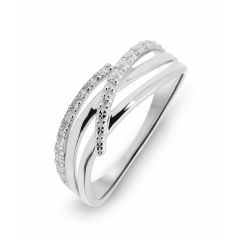 Bague Or Blanc 750  Diamant  0.01 carat