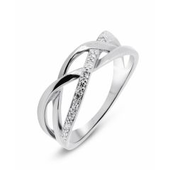 Bague Or Blanc 750  Diamant  0.026 carat