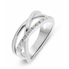 Bague Or Blanc 750  Diamant  0.14 carat