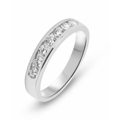 Bague Or Blanc 750 Diamant   0.47 carat