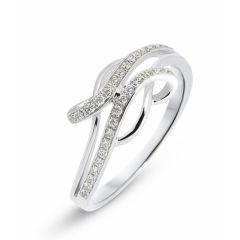 Bague Or Blanc 750 sertie de 28 Diamants