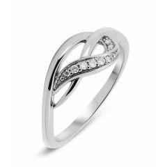 Bague Or Blanc Diamant (0.05ct)
