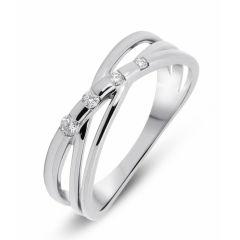 Bague Or Blanc Diamant (0.10ct)