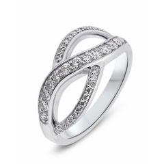 Bague Or Blanc Diamant (0.45ct)