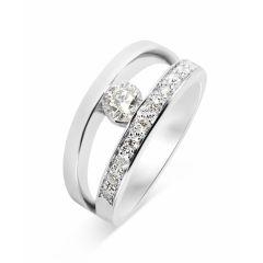 Bague Or Blanc Diamant