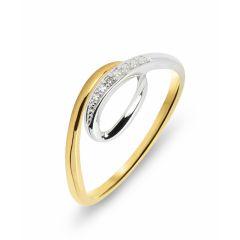 Bague Or Jaune 750  Diamant  0.005 carat