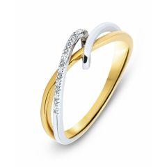 Bague Or Jaune  750  Diamant  0.01 carat