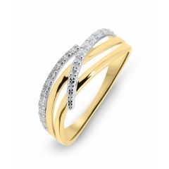 Bague Or Jaune 750  Diamant  0.01 carat