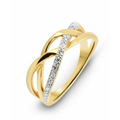Bague Or Jaune 750  Diamant  0.026 carat