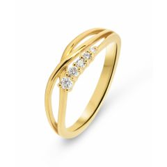 Bague Or Jaune 750  Diamant  0.10 carat