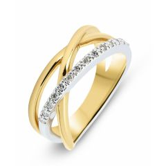 Bague Or Jaune 750  Diamant  0.14 carat