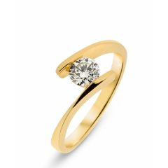 Bague Or Jaune 750 Diamant 0.40 carat