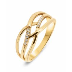 Bague Or Jaune 750 Diamant