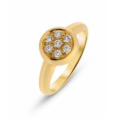 Bague Or Jaune Pavage Diamant